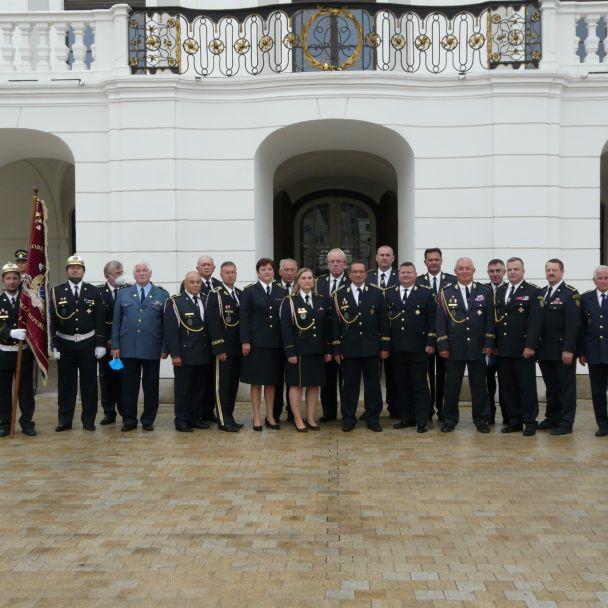 Prijatie členov DPO v prezidentskom paláci